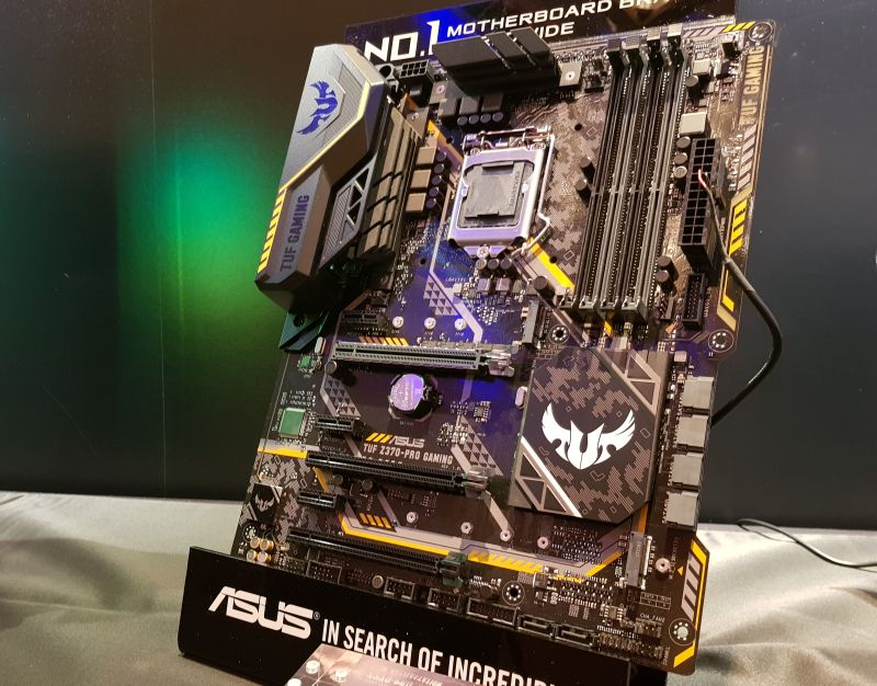 The ASUS TUF Z370-Pro Gaming, and Z370-Plus Gaming (below).