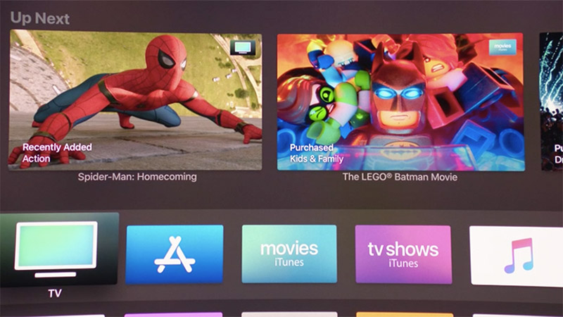 The Apple TV 4K's UI is in 4K (duh).