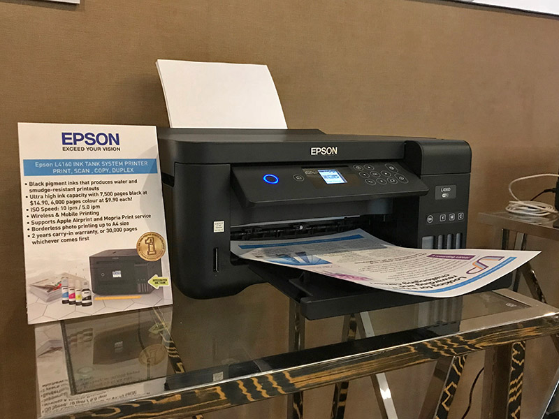 The L4160 prints a tad slower than the business-focused models, but still enables affordable high-volume printing using the same ink tank technology.