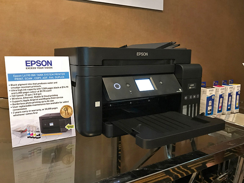 Epson's newest L series ink tank printers are smaller, print faster