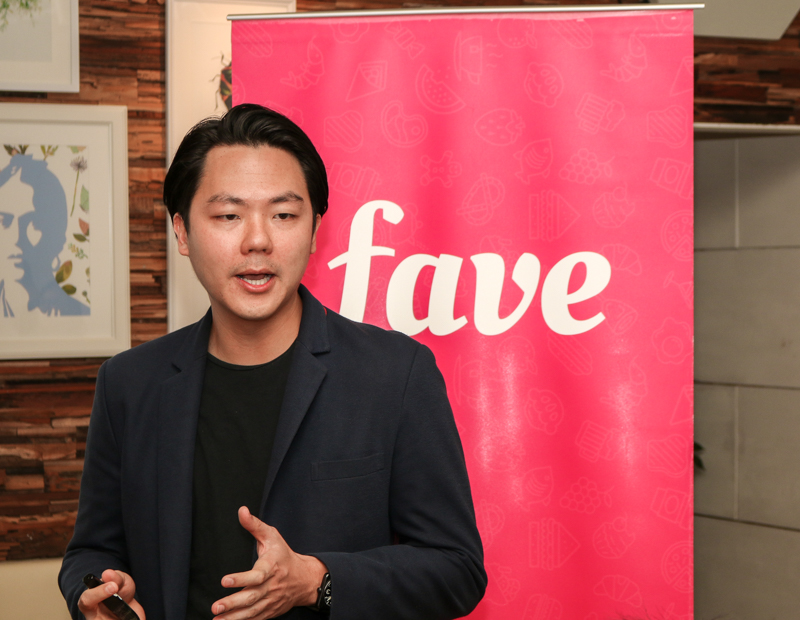 Joel Neoh, Founder of Fave, walking us through the concept of FavePay earlier today.
