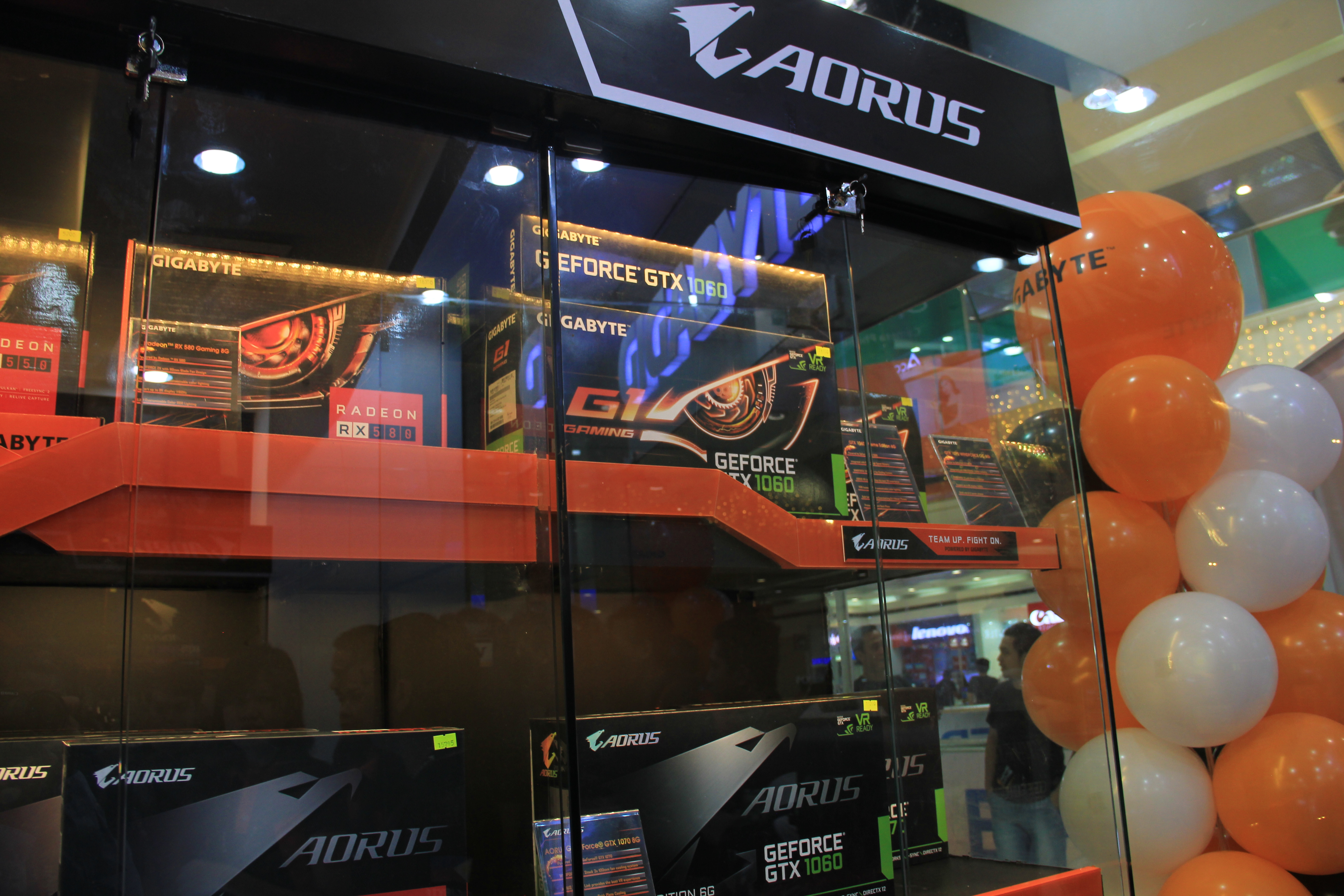 amd ryzen, 8th generation intel core, gigabyte, pcworx, sm north edsa, z370, aorus, motherboards, tekken 7, nvidia, geforce, gt 1050, graphics cards, concept store
