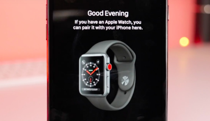"Screenshot taken from 9to5Mac video: ""First Looks: Apple Watch Series 3 with LTE"""