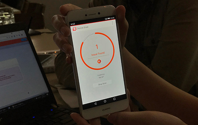 Users can then open up the Trend Micro app to scan their device and remove any detected malware.
