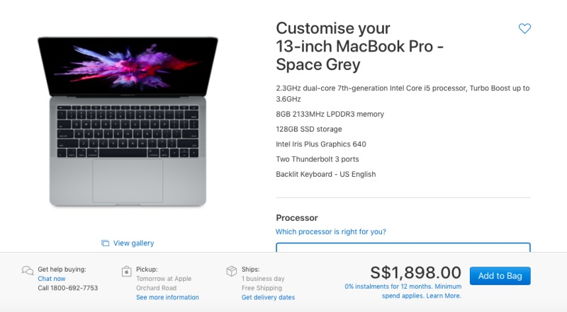 The 13.3-inch MacBook Pro without TouchBar