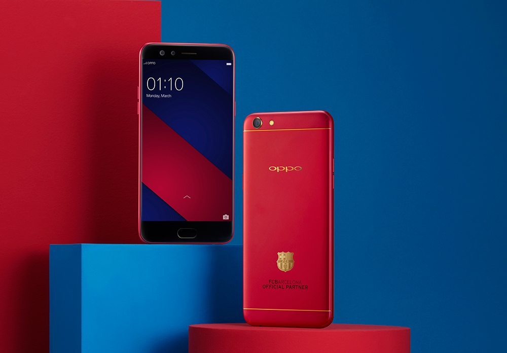fc barcelona, giveaway, limited edition, oppo, oppo f3, sarah geronimo, oppo f3 red, football