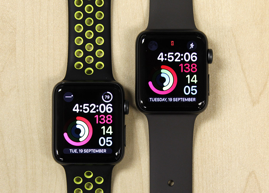 Can you tell which is the new Apple Watch Series 3?