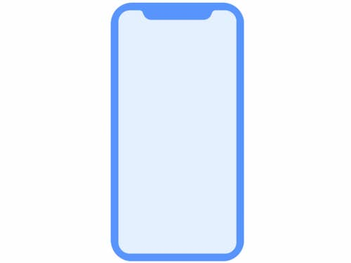 An icon from the HomePod OS leak - you can immediately tell this represents the iPhone X.