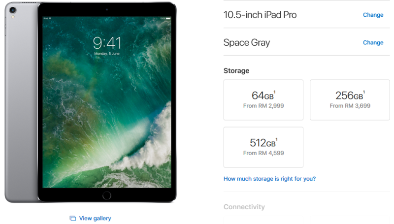 The new prices are already reflected on Apple Store (Malaysia) for both the 10.5-inch and 12.9-inch iPad Pro models.