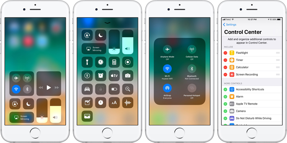 Mobile controls for iphone