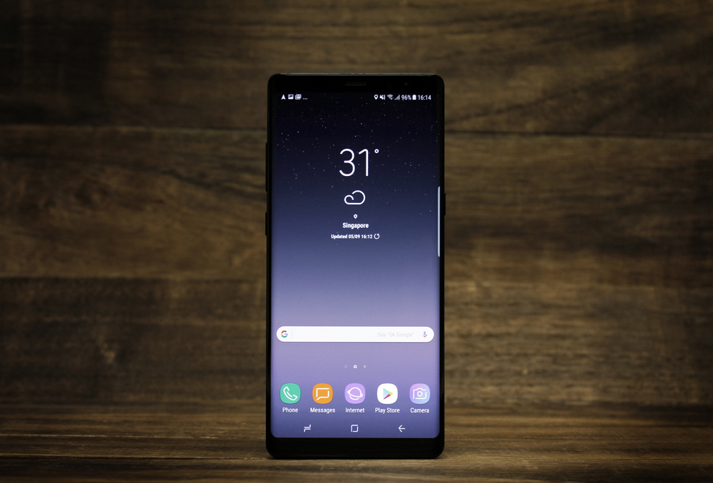 The Samsung Galaxy Note8.