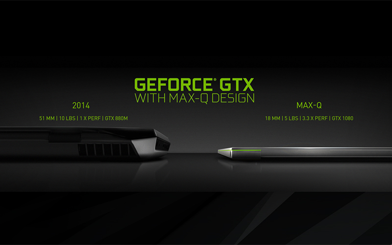 Max-Q laptops enable far more powerful GPUs to be crammed into slimmer designs. (Image Source: NVIDIA)