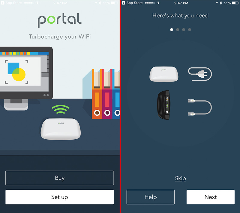 Setup was a breeze. Download the Portal app onto your iOS or Android device and follow the onscreen instructions.