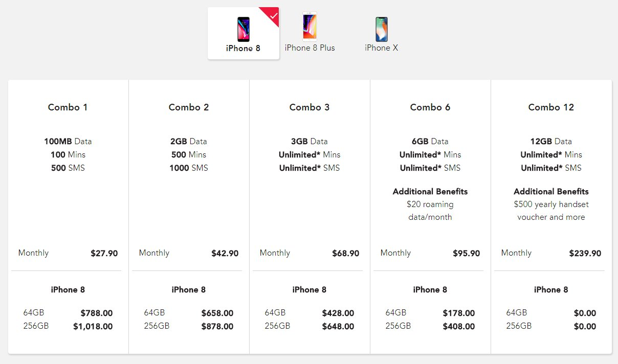 Singtel price plans for iPhone 8, iPhone 8 Plus, and iPhone X are ...