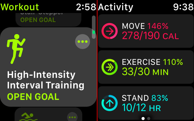 The Workout app now includes the increasingly popular high-intensity interval training.