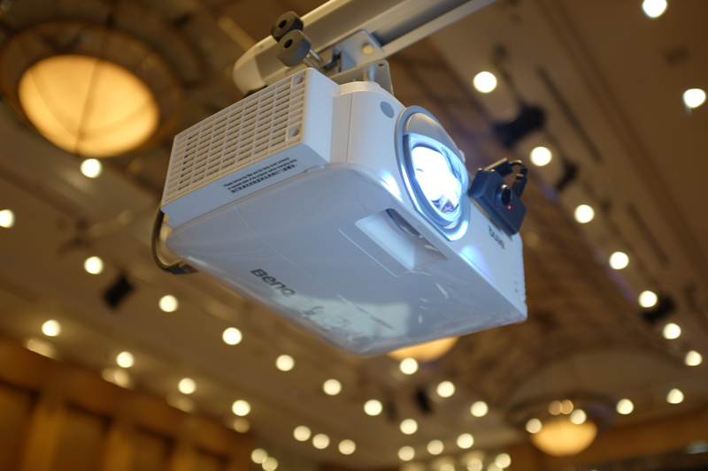 The BenQ DX 808 ST dustproof projector.