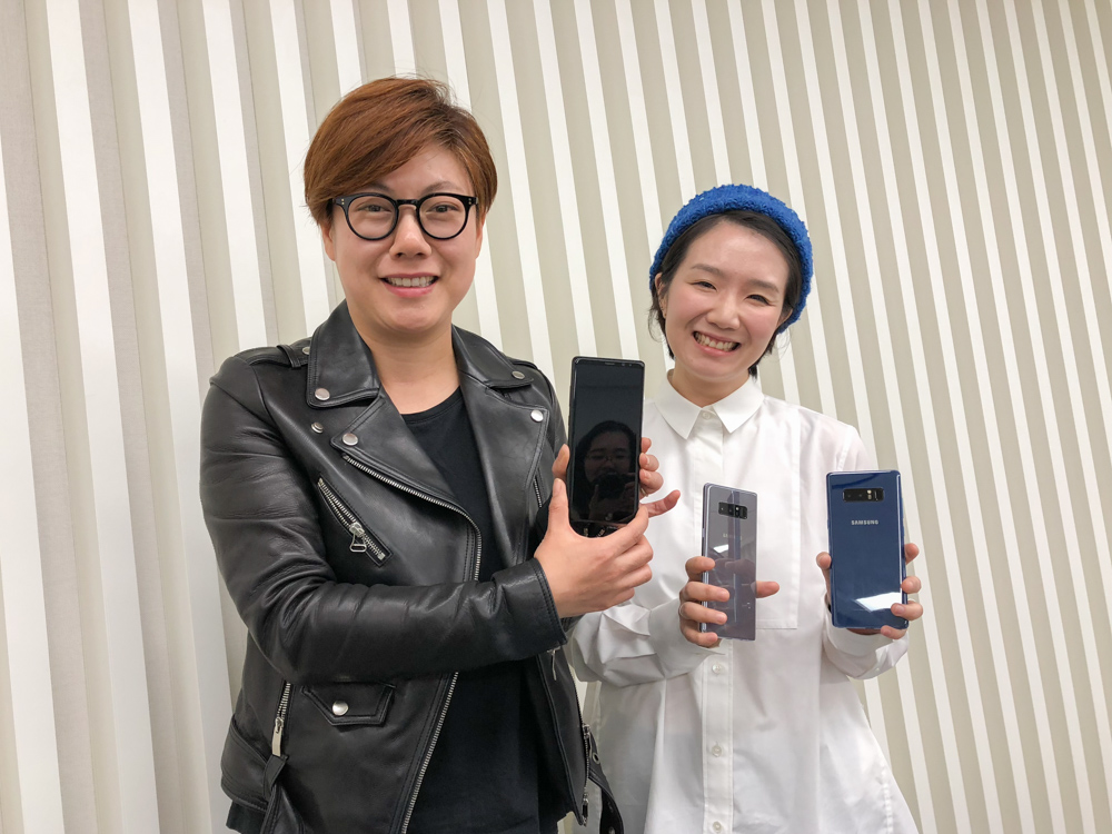 From left to right: Jiyoung Lee, Product Designer, and Sae-Hee Lee, CMF (Color, Material and Finish) Designer.