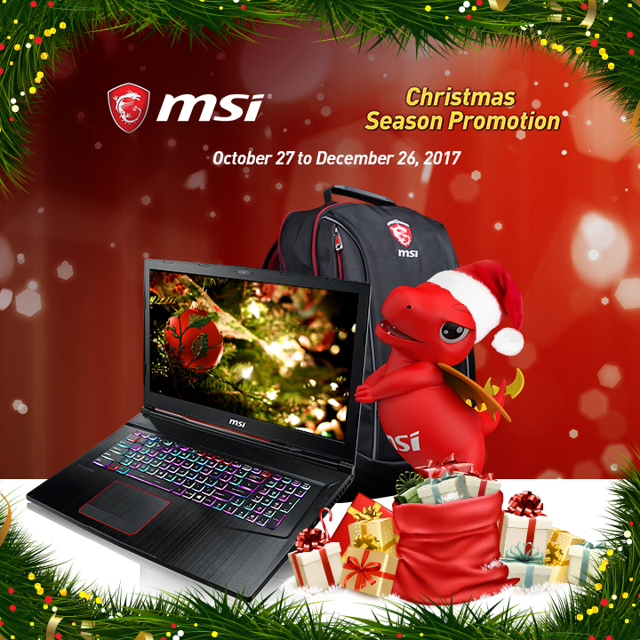 msi, christmas, promotion, holiday, gaming, laptops, gs63 7re-034ph, intel, i7-7700hq, nvidia, geforce, gtx 1050 ti, 10 series, gpu, graphics, sale, discount