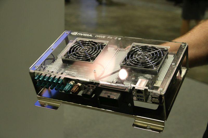 NVIDIA's Drive PX 2 autonomous self-driving GPU platform.