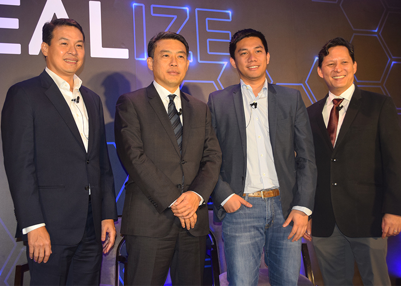 (from left to right) Ronnie Latinazo, Country General Manager of Dell EMC Philippines, Yee Beng Pang, Managing Director of Dell Malaysia, Dindo Marzan, Managing Director of Hatch under Voyager Innovations, Inc., and Samuel Guevara, Executive Director of the Philippine Development Foundation