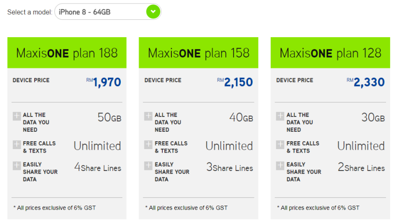 Maxis price plans for iPhone 8 and 8 Plus revealed - HardwareZone com my