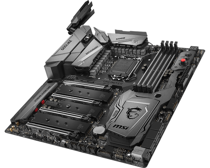 MSI Z370 Godlike Gaming. (Image Source: MSI)