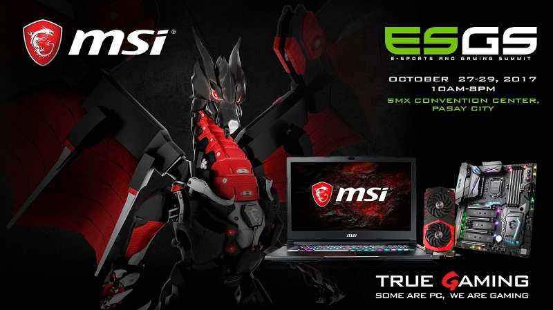 msi, esgs 2017, smx, laptop, auction, notebook, gaming, raffle