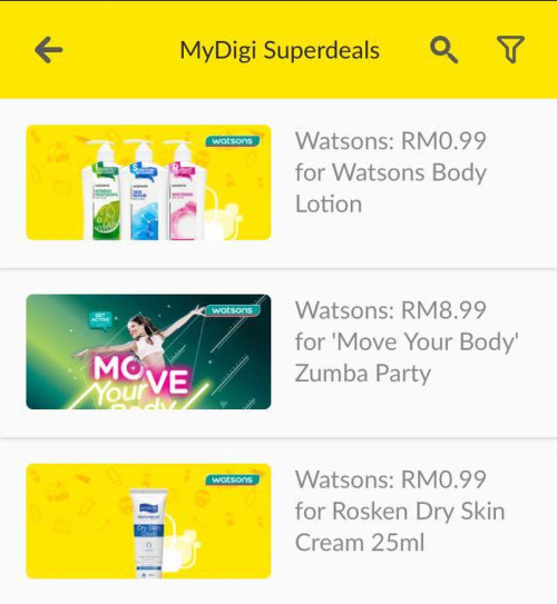 The exclusive deals from Watson, on the MyDigi app.