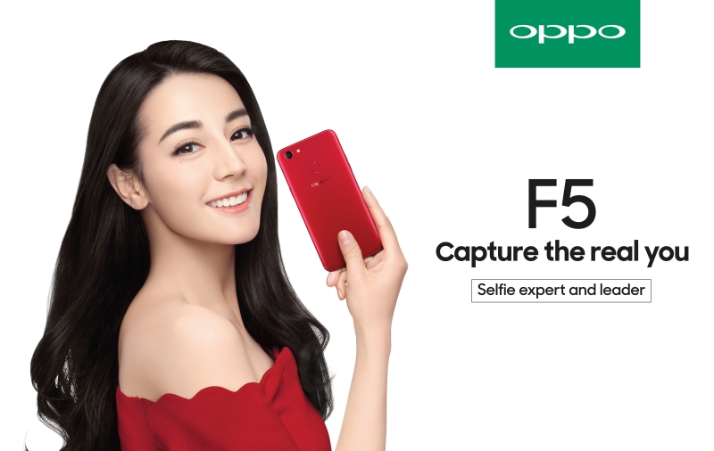Dilraba Dilmurat, the product ambassador of the OPPO F5. <br> Image source: OPPO.