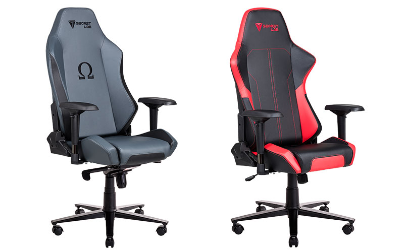 The 2018 Omega In Ash (left), And The Flash Red Throne. (Image Source:  Secretlab)