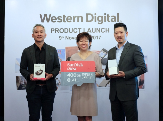 From L-R: Hui Low, Product Marketing Manager, APAC; Margaret Koh, Sales Director, Asia South; and Albert Chang, Senior Product Marketing Manager, APAC, WD.