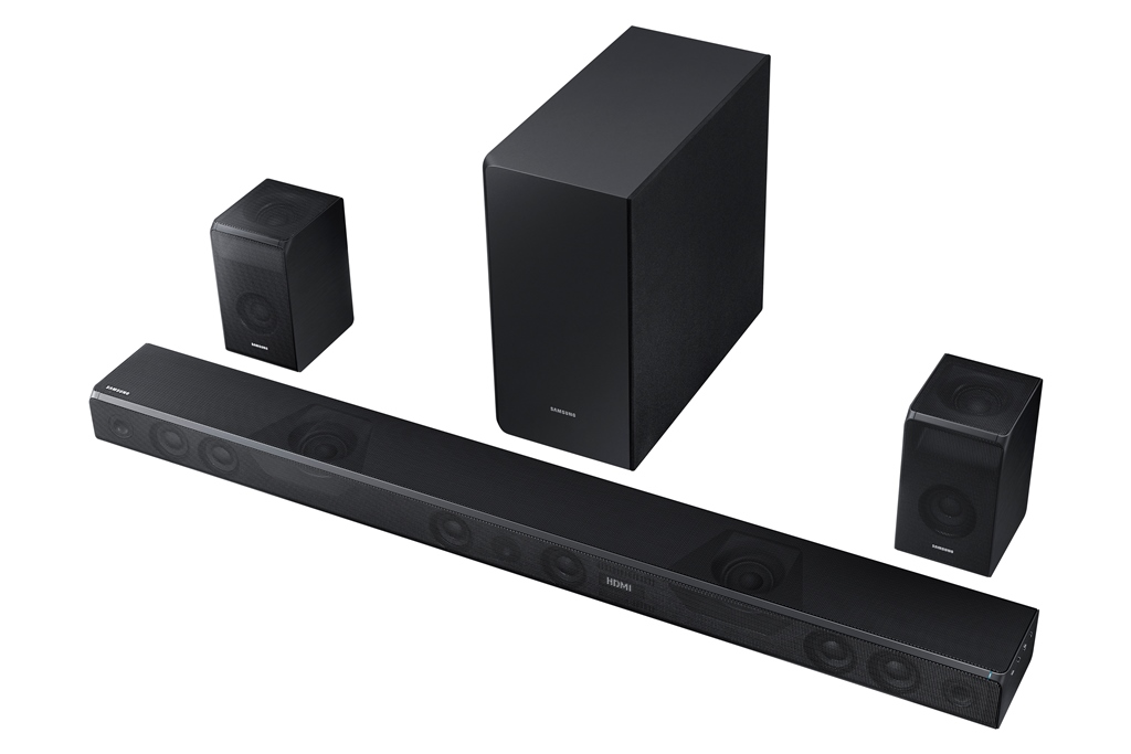 samsung, soundbar, dolby atmos, speakers, surround sound, samsung soundbar sound+, hw-ms751, subwoofer, wireless