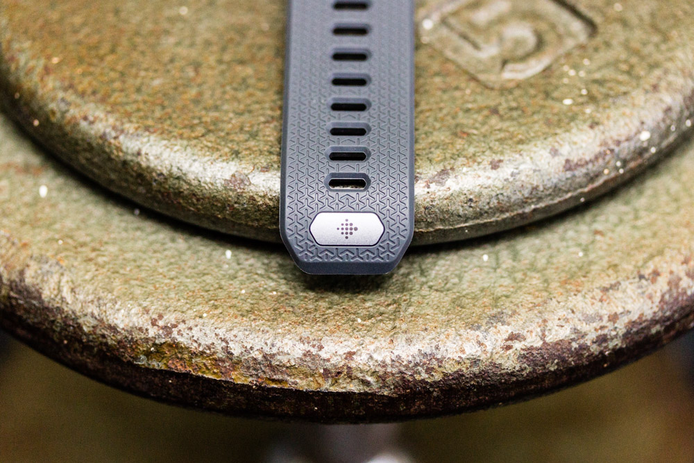 The strap that ships with the Ionic has an SpO2 sensor, which currently lies dormant, waiting for the right time to awaken.