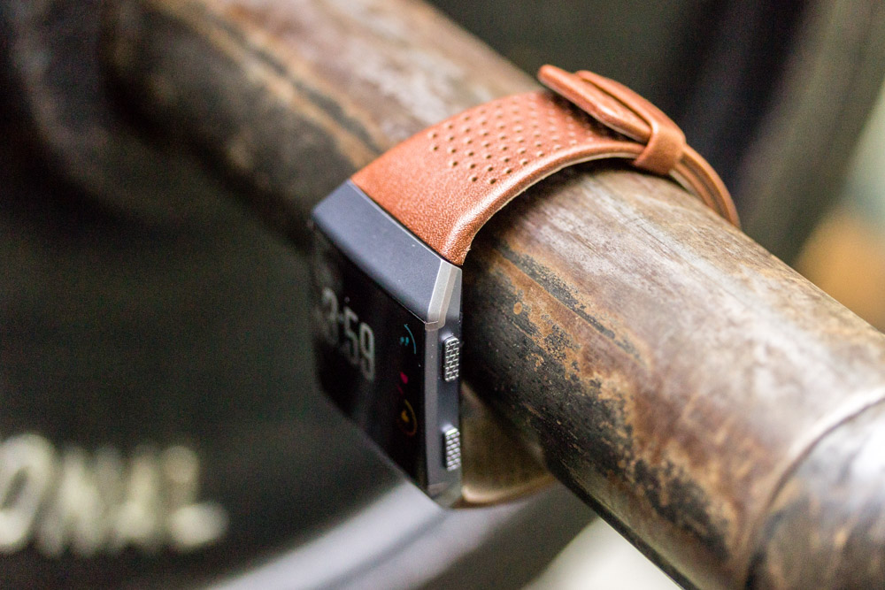 Not something you'd want to sweat in, but the optional leather strap is comfortable and more appropriate for the office.