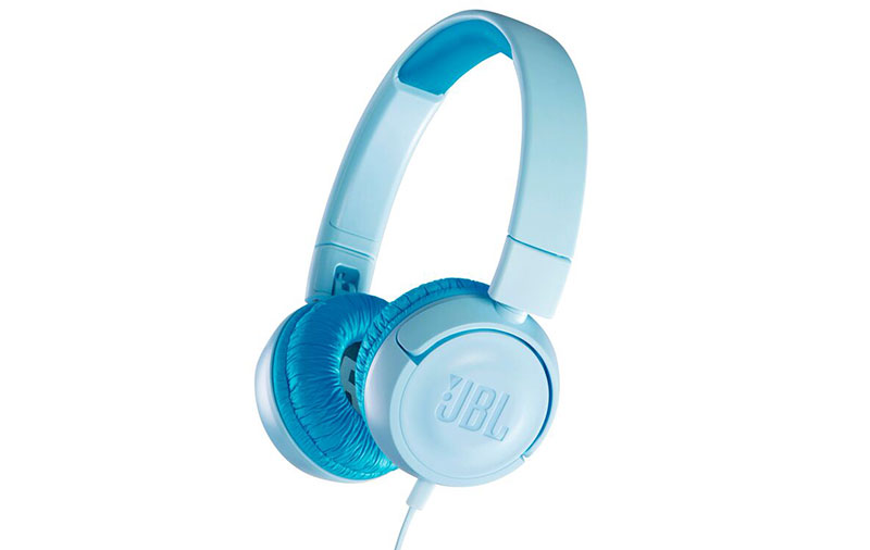 The JBL Jr kids headphones are compact, colorful, and will limit the ...