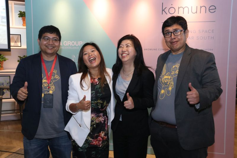 From L-R: Mohan Low Han Sen, Head, Interactive Media, MDEC; Stephanie Kong, General Manager (Projects) of UOA Development Bhd; Dato' Ng Wan Peng, Chief Operating Officer of MDEC; and Hasnul Hadi Samsudin, Director, Creative Content & Technologies, MDEC.