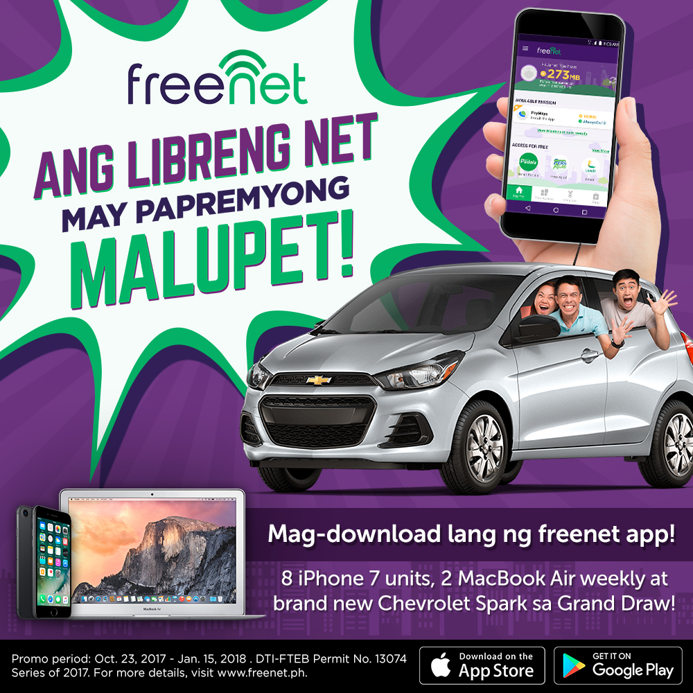 freenet, voyager innovations, smart, sun, tnt, chevrolet spark, macbook air, apple, iphone 7, hatch, petmalu, lazada, takatack, android, ios