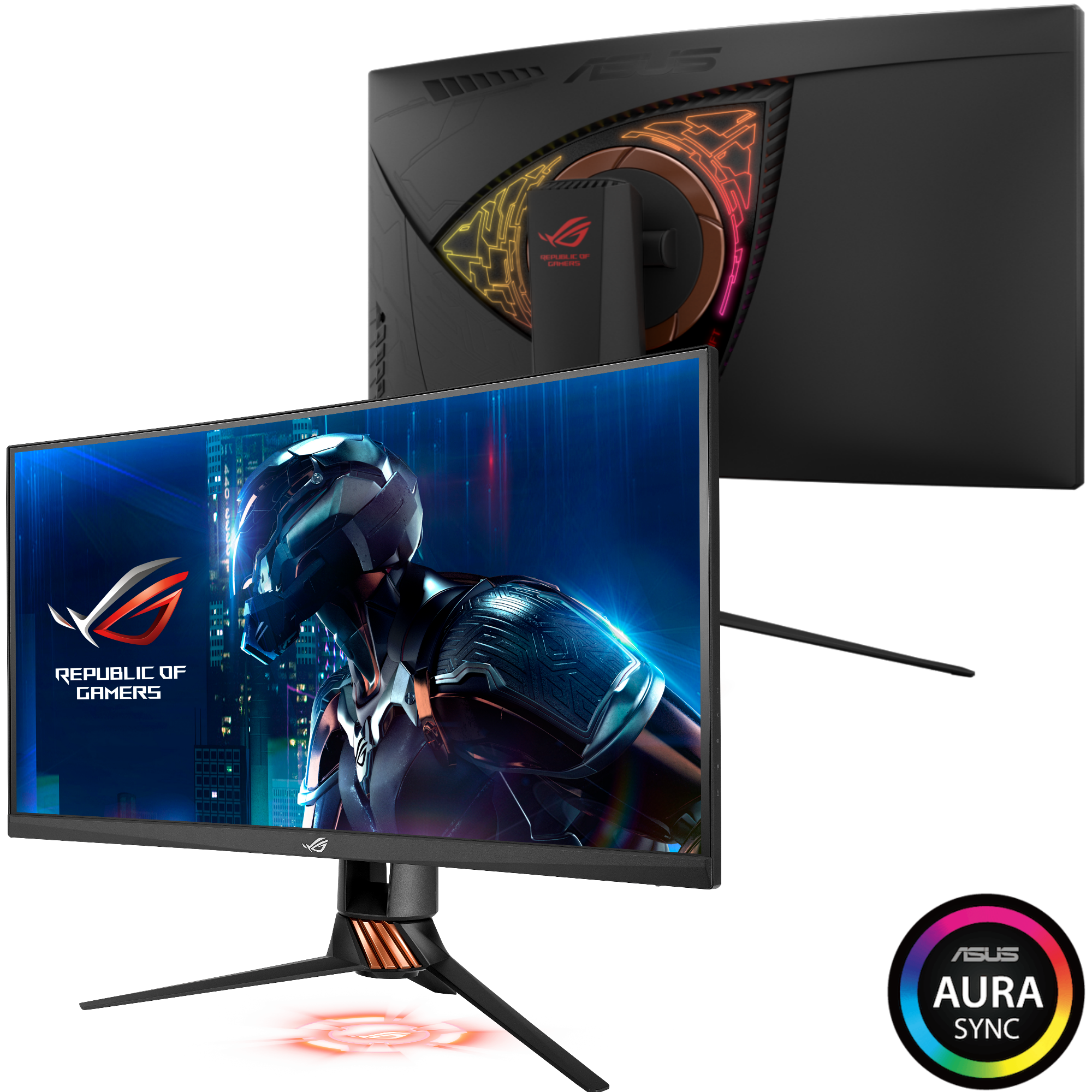 asus, curved monitor, gaming, gaming monitor, republic of gamers, rog, swift, pg27vq, ces 2017