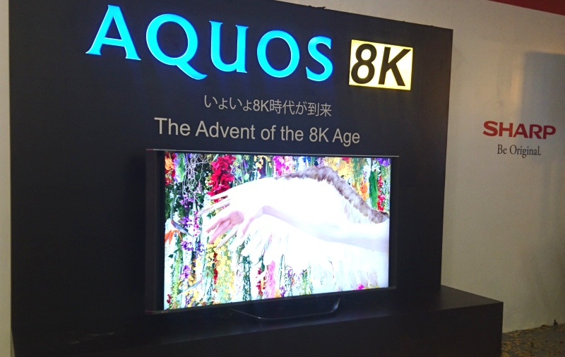 There's even an 8K HDR TV that was brought in to showcase the 8K ecosystem. It's not part of the product lineup, though, so we won't be seeing this one in the market as soon as the rest.