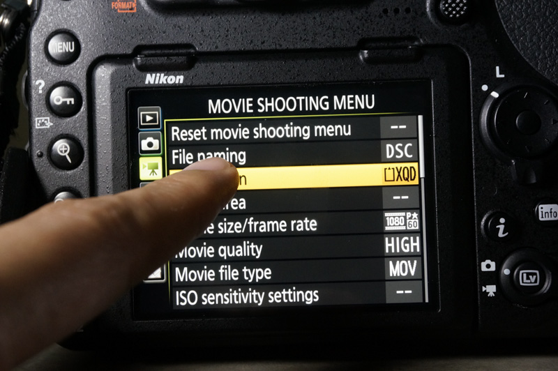 With touch, you can easily go through the long menus in the camera.