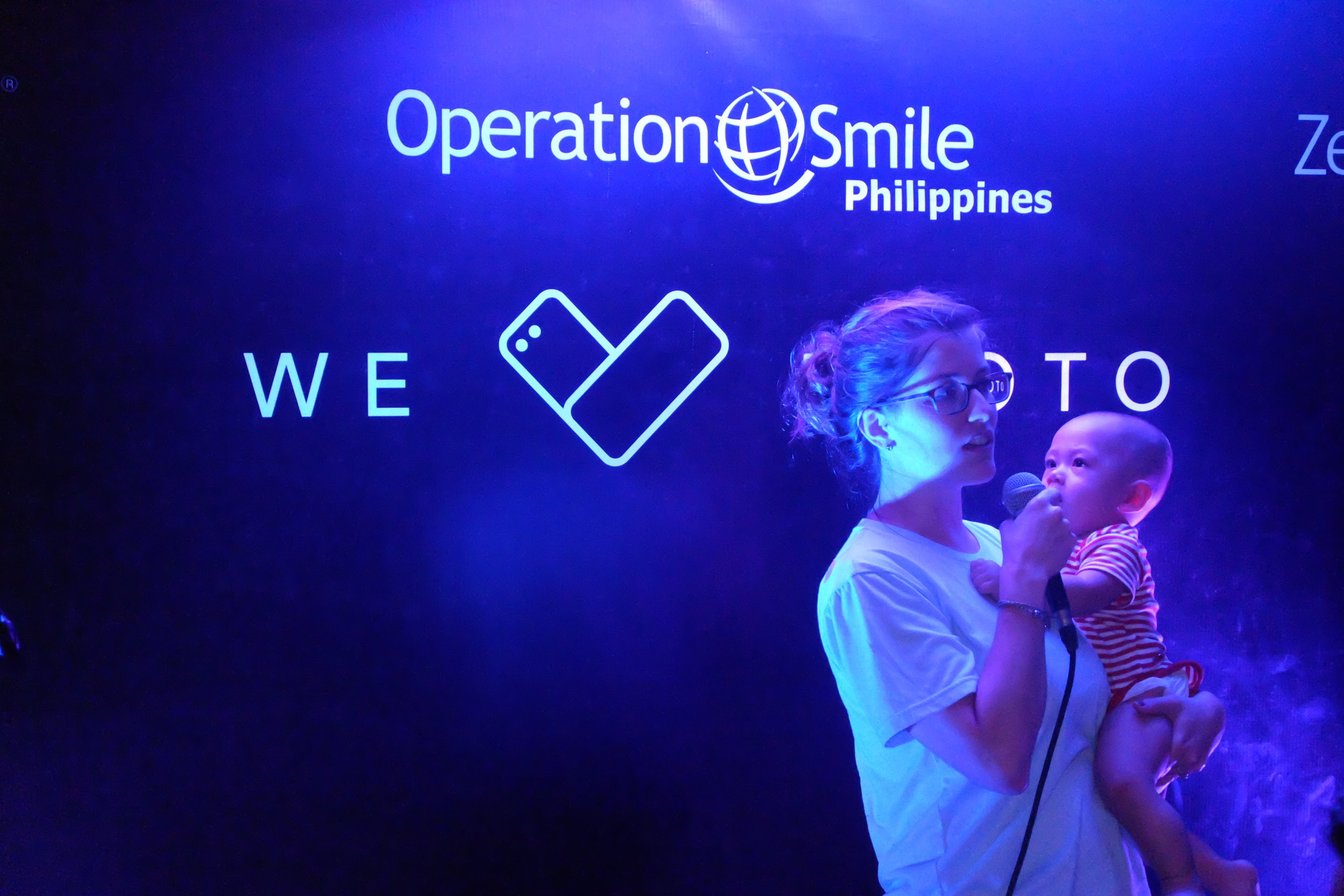 Christine Lu, Director of Programs for Operation Smile Philippines shares her sentiments to the ASUS Philippines and the media in a thanksgiving dinner at Iloilo with her son, Ari Lu.