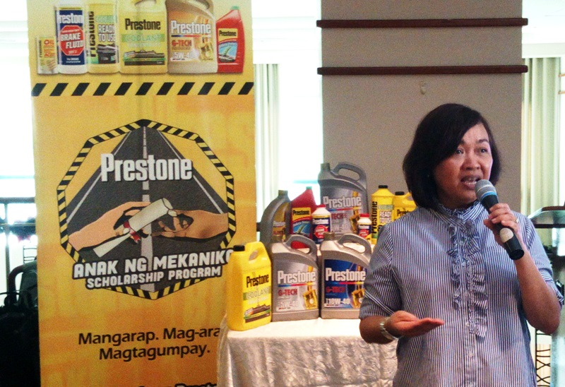 One of the Prestone's key executives, Clorox International Philippines, Inc. President Marties Dagdag, were also present on stage to introduce the brand's latest advocacy program called ANAK NG MEKANIKO scholarship program.