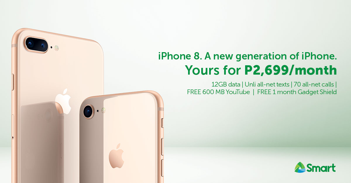 apple, iphone, iphone 8, iphone 8 plus, iphone plans, postpaid plans, smart, smartphones