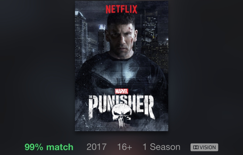 The Dolby Vision icon will appear on Netflix content with HDR support.