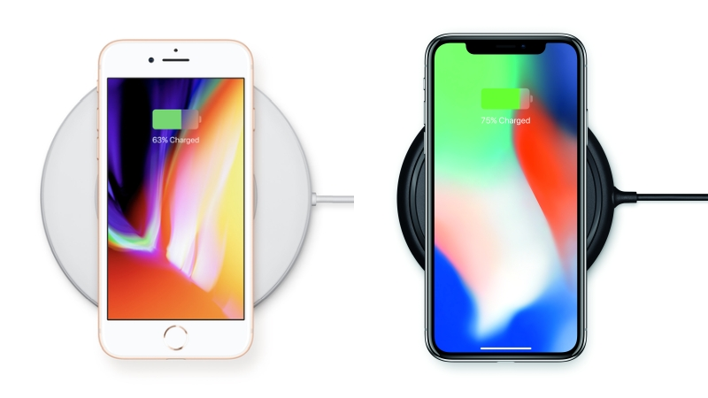 Belkin's Boost↑Up Wireless Charging Pad (left) and mophie's Wireless Charging Base (right). <br>Image source: Apple.