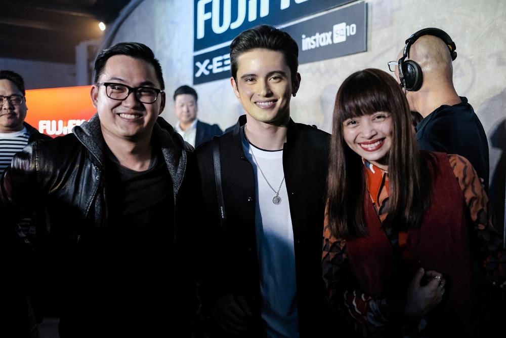 The new brand ambassadors of Fujifilm X-E3: Magic Liwanag, James Reid, and Shaira Luna