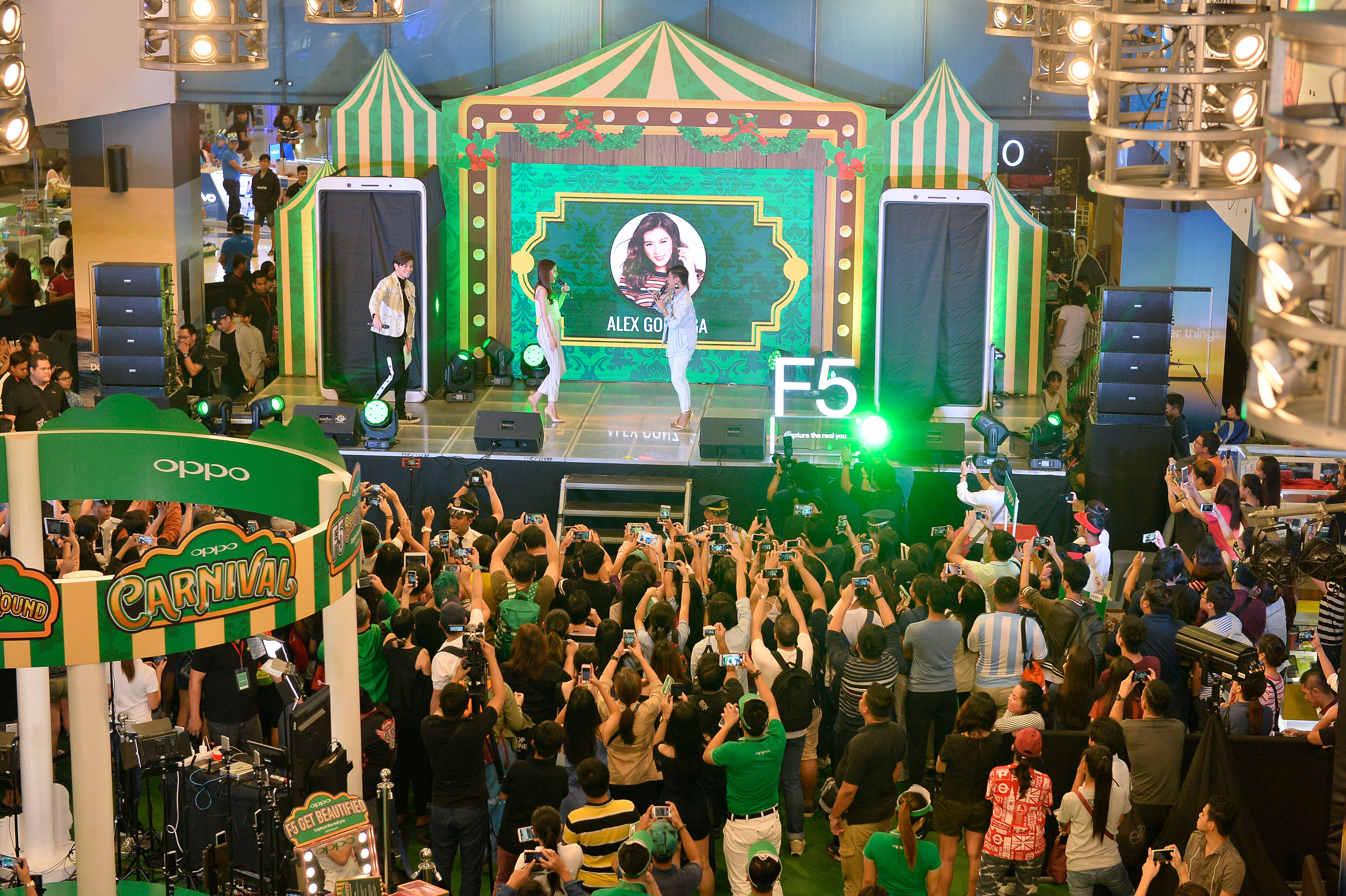 oppo, oppo f5, carnival roadshows, ronnie alonte, alex gonzaga, coleen garcia, sanya lopez, sm city north edsa, sm megamall, smartphone, artificial intelligence, ai beauty technology, beautification, stephen cheng