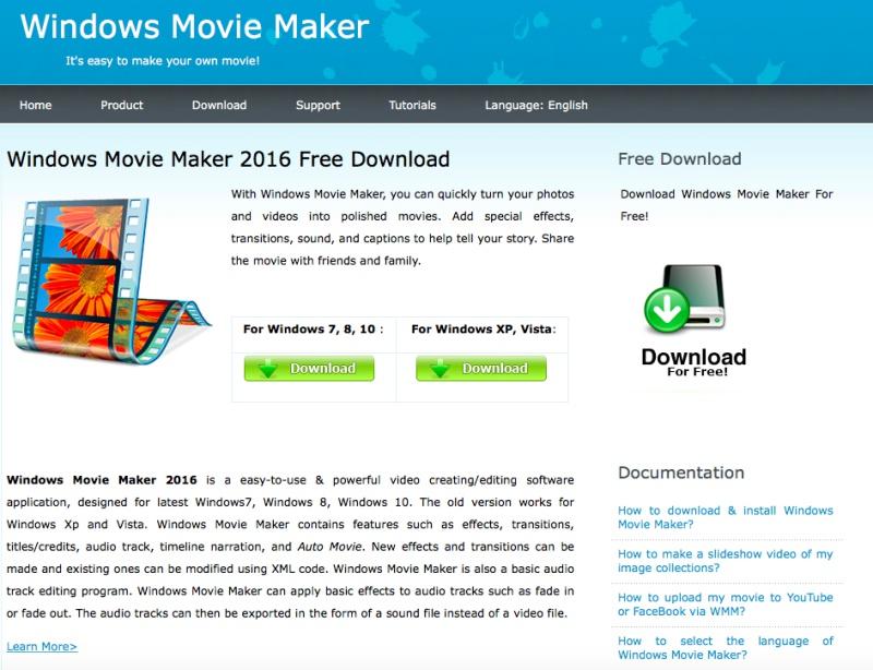 download free windows movie maker for windows 7