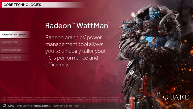It's just not a Radeon Software driver without the presence of WattMan.