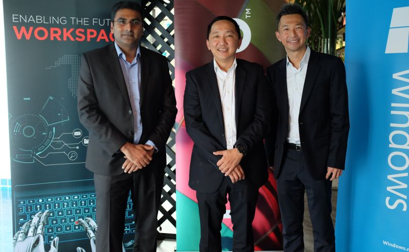 From L-R: Sharath Sreenivasan, Director, Commercial Council and Product Management, Lenovo Central Asia Pacific; Khoo Hung Chuan, General Manager, Lenovo Malaysia and Singapore; and Kenneth Liew, Senior Research manager Client Devices, IDC Asia Pacific.